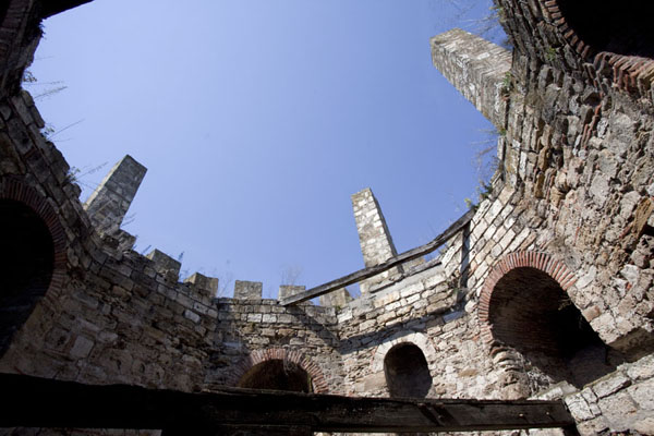 Looking up the water tower | Smederevo Fortress | Serbia