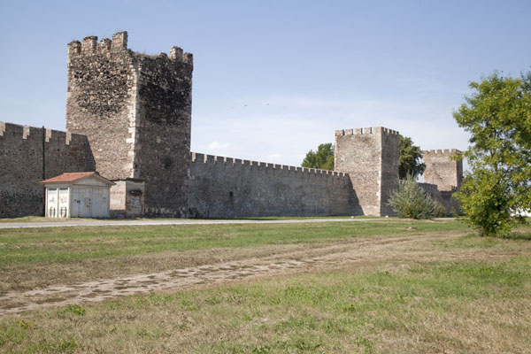 Picture of Smederevo Fortress (Serbia): Part of the exterior wall of Smederevo Fortress: the eastern side