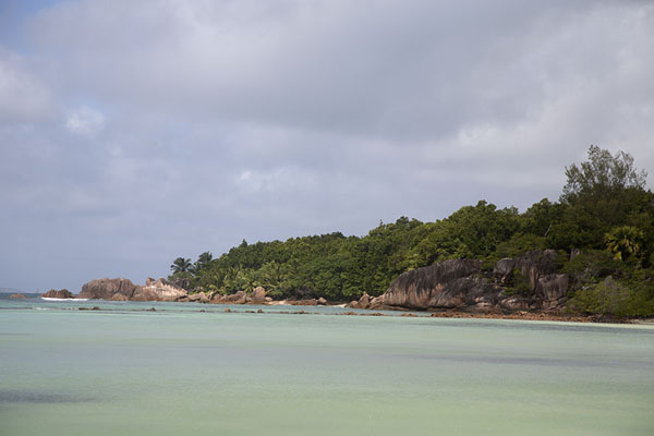 Picture of Curieuse island (Seychelles): Granite boulders and tropical vegetation on Curieuse island