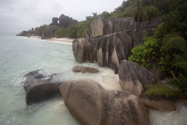Picture of Footsteps in the sand at Anse Cocos beach, La DigueSeychelles - Seychelles