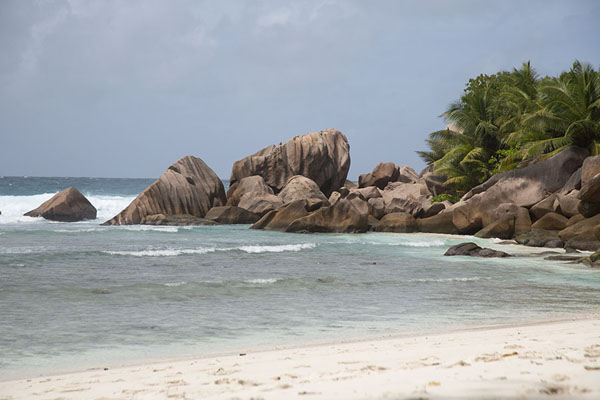 Picture of Seychelles beaches (Seychelles): White beach at Anse Patates, La Digue