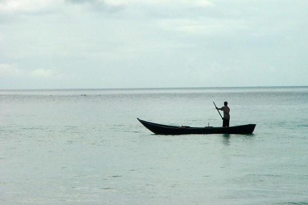 Picture of Seychelles Fishing (Seychelles): Lone fisherman at sea in Seychelles