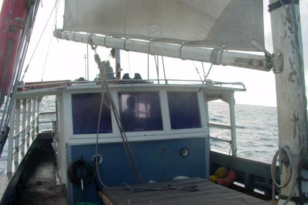 Picture of Looking back at the cabin of the boatSeychelles - Seychelles