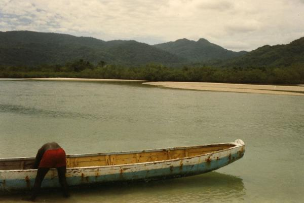 Picture of Man, boat and riverFreetown - Sierra Leone