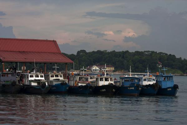 Small bumboats docked at the quay of Pulau Ubin | Pulau Ubin | Singapore