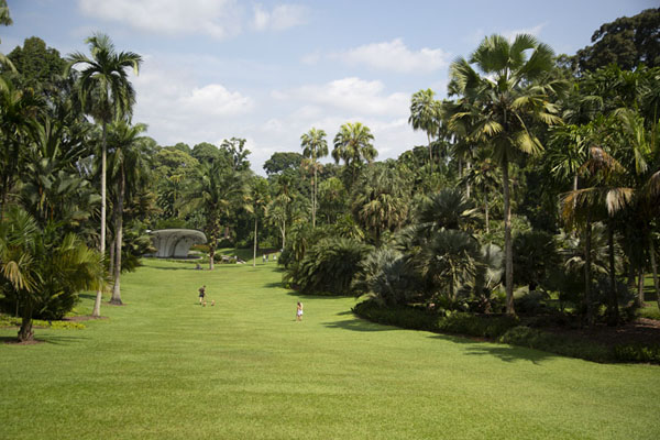 Foto van The open space with Symphony Stage in te backgroundSingapore Botanic Gardens - Singapore