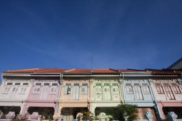 Picture of Singapore (Great example of pastel Peranakan houses on Koon Seng Road)