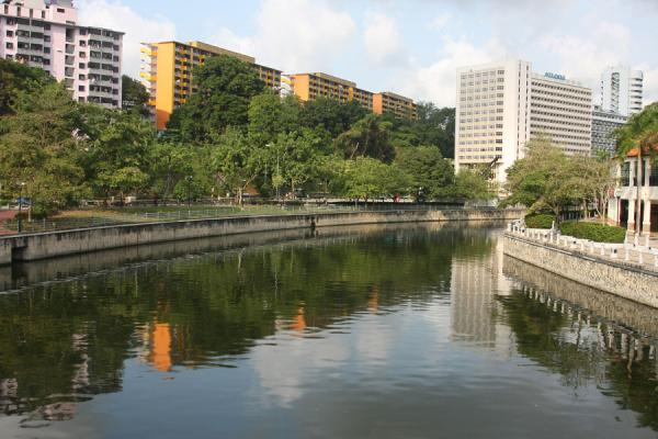 Singapore River and apartment blocks | Singapore River | Singapore