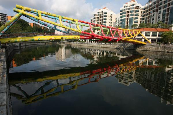 Alkaff Bridge reflected in Singapore River | Singapore River | Singapore