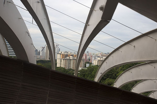 View of Singapore city from Henderson Waves | Southern ridges | 新加玻