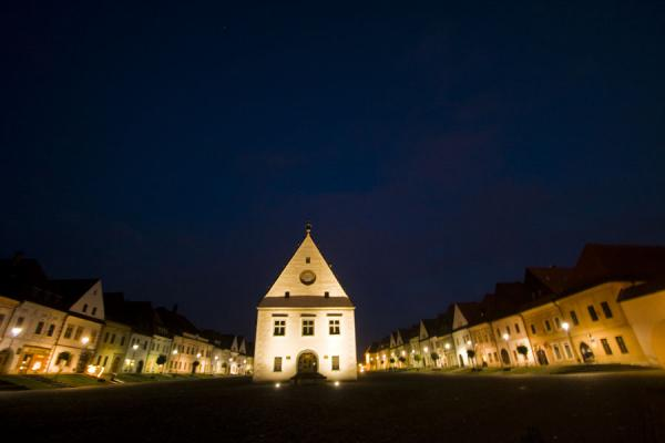 Evening on Old Town Square in Bardejov | Bardejov Old Town | Slovakia