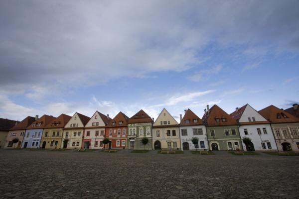Medieval houses surround the Old Town Square of Bardejov | Bardejov Old Town | Slovakia