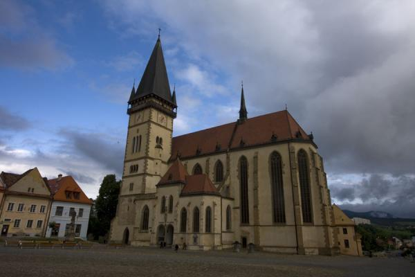 Picture of Saint Egídius Basilica of Bardejov in the early morning