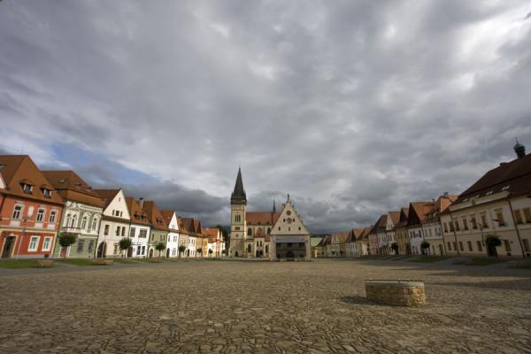 Early morning over the Old Town Square of Bardejov | Bardejov Old Town | Slovakia