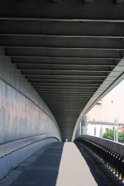 The pedestrian layer of the New Bridge | Bratislava New Bridge | Slovakia