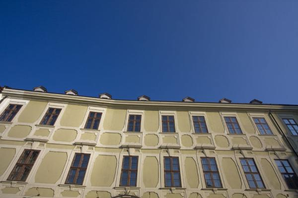 Looking up one of the buildings on the western side of Hlavné Námestie | Bratislava Old Town | Slovakia