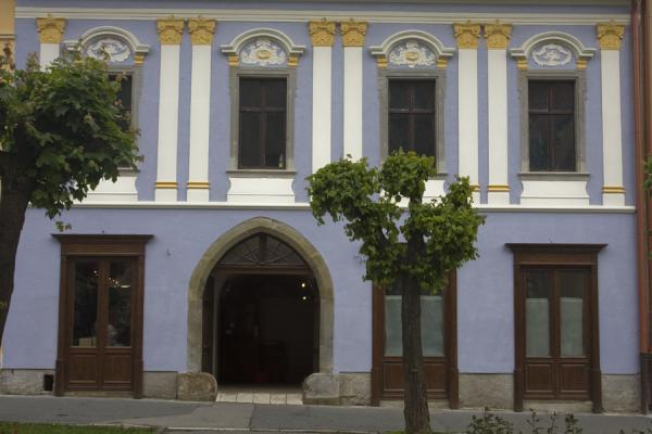 Picture of Levoča Old Town (Slovakia): Purple Renaissance house on Master Pavol square in Levoča
