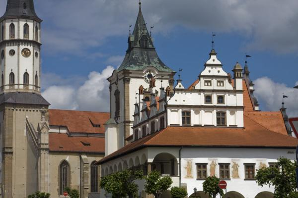 Picture of Levoča Old Town (Slovakia): The Town Hall of Levoča and St. James church are the central elements on Master Pavol square