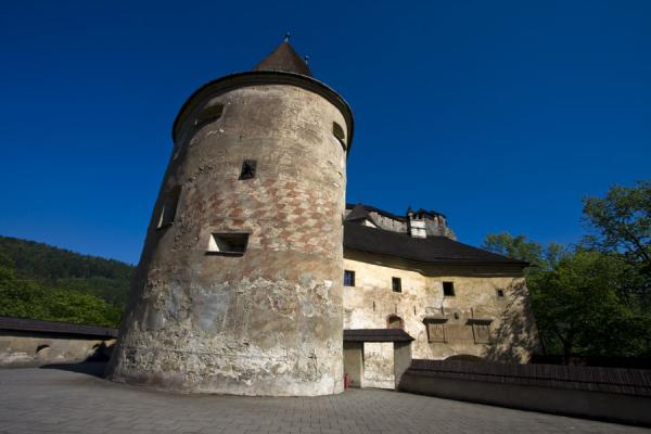 Picture of Orava Castle (Slovakia): Massive tower at the lower parts of the castle