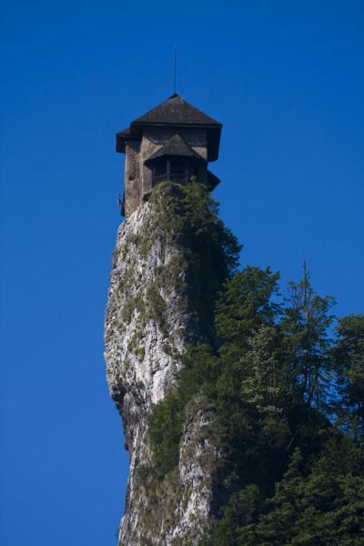 Picture of Orava castle is built right on top of a slender rock