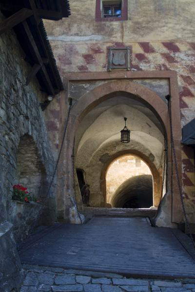 Picture of Orava Castle (Slovakia): Gate with draw bridge in the low part of Orava castle