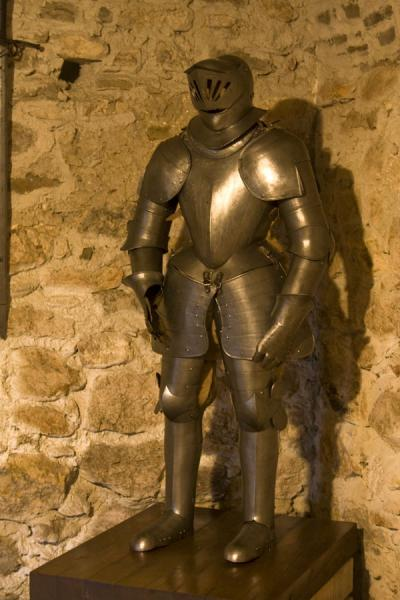 Picture of Spiš Castle (Slovakia): Metal outfit for a medieval knight