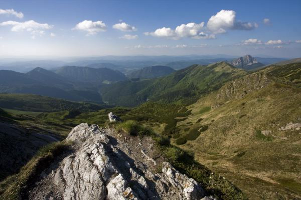 Picture of Vrátna valley (Slovakia): View over Vrátna Valley from a vantage point near Chleb, on the ridge south of the valley
