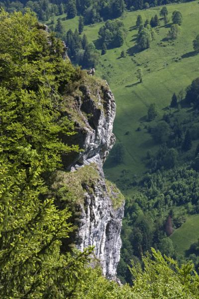 Picture of Vertical cliffs are common in Vrtna Valley
