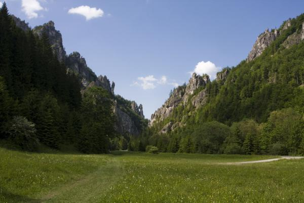 View of the narrow Tiesavy gorge from inside Vrtna Valley | Vrtna valley | Slovakia