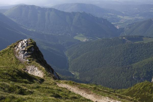 Looking down Vrátna Valley from the ridge south of the valley, near Chleb | Vrátna valley | Slovakia