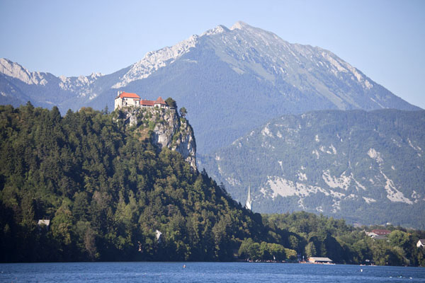 Bled Castle with mountains in the background | Lake Bled | Slovenia