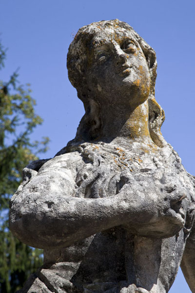 Close-up of statue on Bled Island | Lake Bled | Slovenia