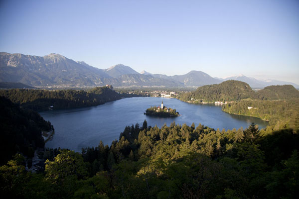 View of Lake Bled from Osojnica hill to the southwest | Lake Bled | Slovenia