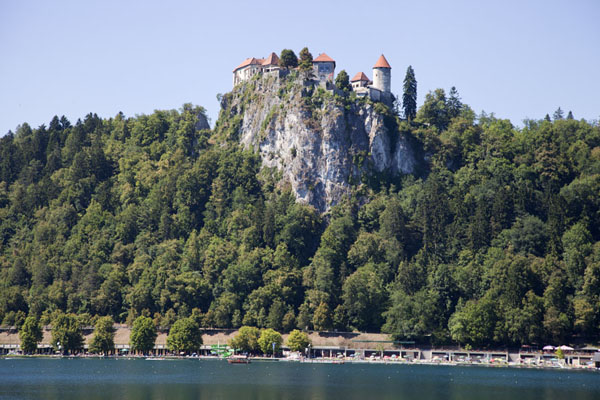 Looking across Lake Bled towards Bled Castle | Lake Bled | Slovenia