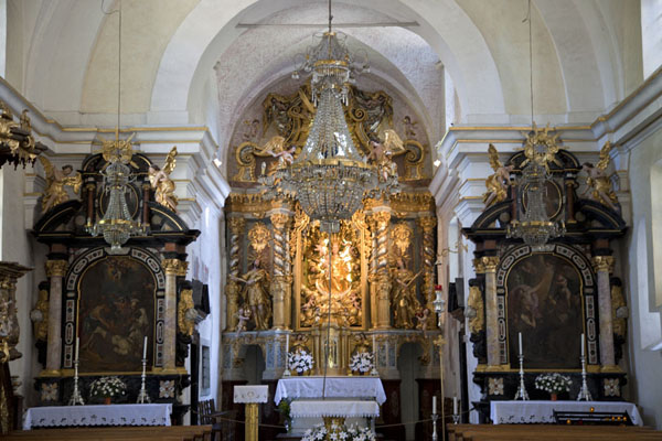 Foto di Interior of the Church of the AssumptionBled - Slovenia