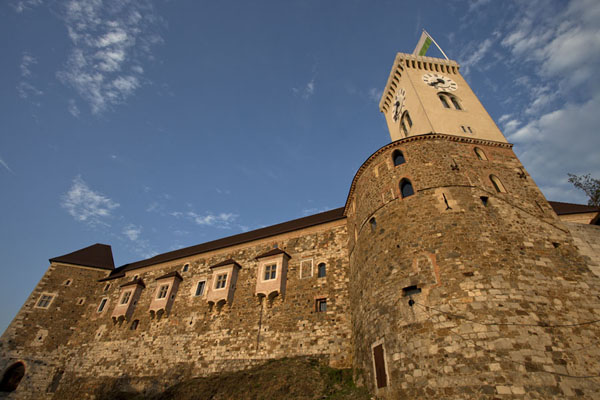 Picture of Ljubljana Old Town (Slovenia): View of Ljubljana Castle from below