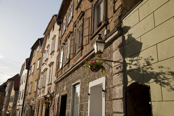 Picture of Ljubljana Old Town (Slovenia): Late afternoon light on some houses of the old town of Ljubljana