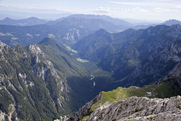 Looking down over the Logar Valley, or Logarska Dolina | Logarska Dolina | Slovenia