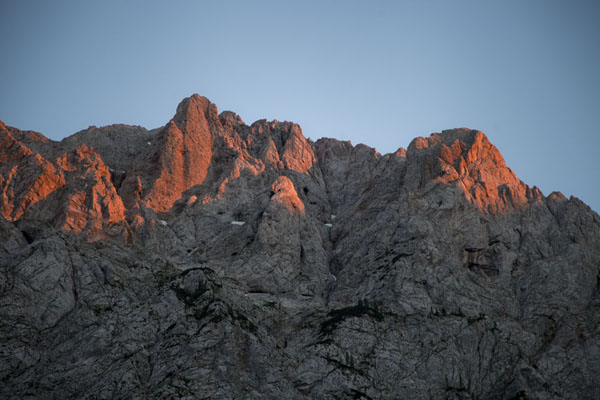 Sunset over the peaks of Logarska Dolina | Logarska Dolina | Slovenia