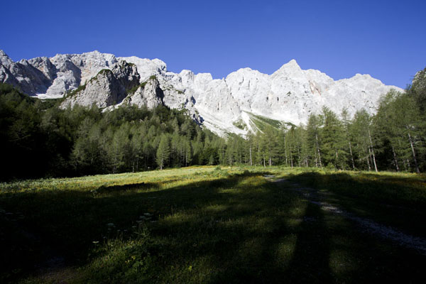 Chain of mountains seen from close to the Okrešelj hut above Logarska Dolina | Logarska Dolina | Slovenia