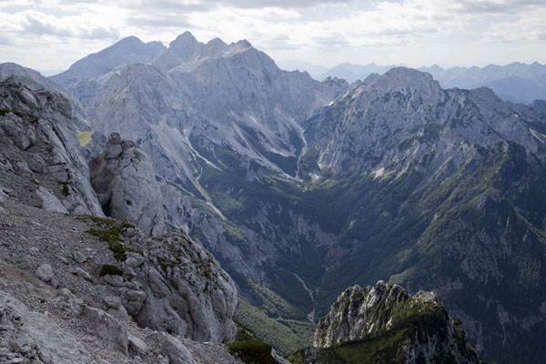 Looking towards the west from the mountains | Logarska Dolina | Slovenia