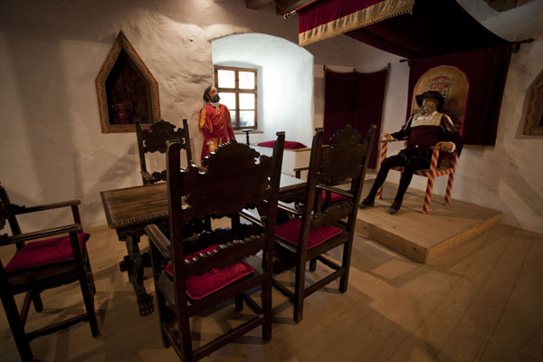 Picture of Predjama Castle (Slovenia): Reconstructed room in Predjama castle