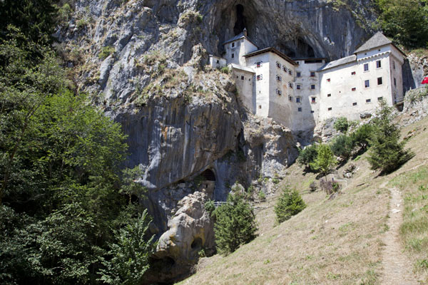 Picture of Predjama Castle (Slovenia): Predjama Castle seen from below