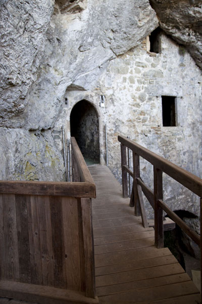 Bridge to the grotto castle | Predjama Castle | Slovenia