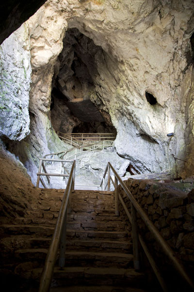 Interior of the grotto castle of Predjama | Predjama Castle | Slovenia