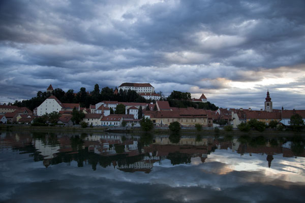 The old town of Ptuj under a cloudy morning sky | Ptuj | Slovenia