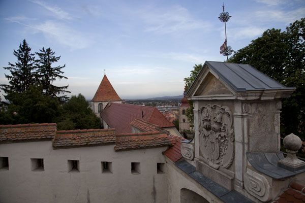 Picture of The castle of Ptuj at the end of the day