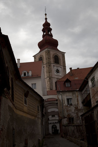 The City Tower dominates the Old Town of Ptuj | Ptuj | Slovenia