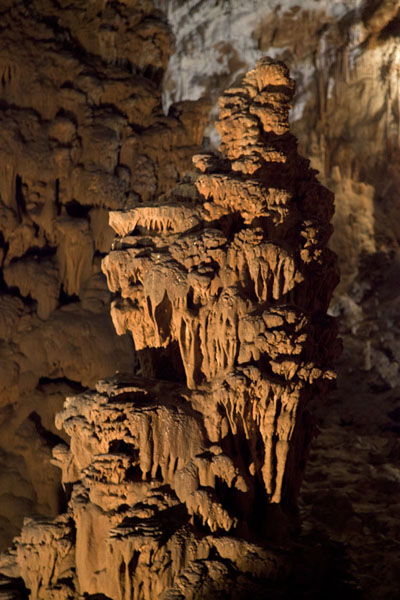 Formation of stalagmites in the Paradise section of the Škocjan caves | Škocjan Caves | Slovenia