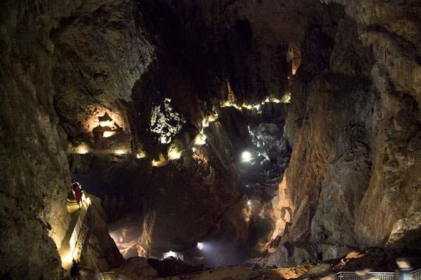 Looking into the underground canyon of the Reka river | Škocjan Caves | Slovenia